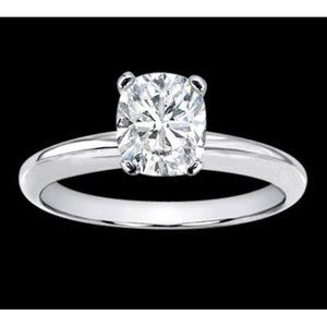 1.51 carat Cushion cut solitaire diamond jewelry r